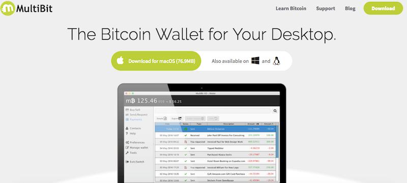 In su con il nuovo portafoglio Bitcoin MultiBit HD - Bitcoin on air